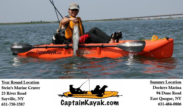 Captain kayak long island kayaks and charter boats for Most stable fishing kayak